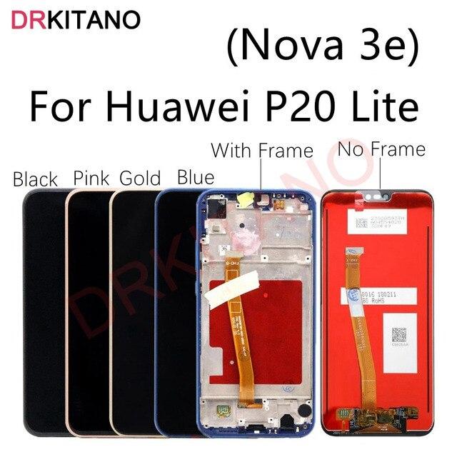 Huawei社P20 lite lcdディスプレイタッチスクリーンデジタイザノヴァ 3e液晶ane LX1 LX3 L23 huawei社P20 liteディスプレイフレーム