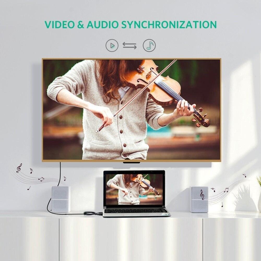conversor cabo com áudio, 1080p, converter fonte