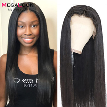 Straight Lace Front Wig Transparent Lace Frontal Wigs T Part Remy Brazilian Human Hair Wigs For Black Women 13x4 Lace Front Wig