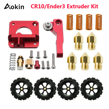 CR10/Ender3 Extruder Kit Silicone Nozzle Heating Bed Spring Upgrade Leveling Nut Set 0.4mm/1.75mm Filament for Creality Ender 3