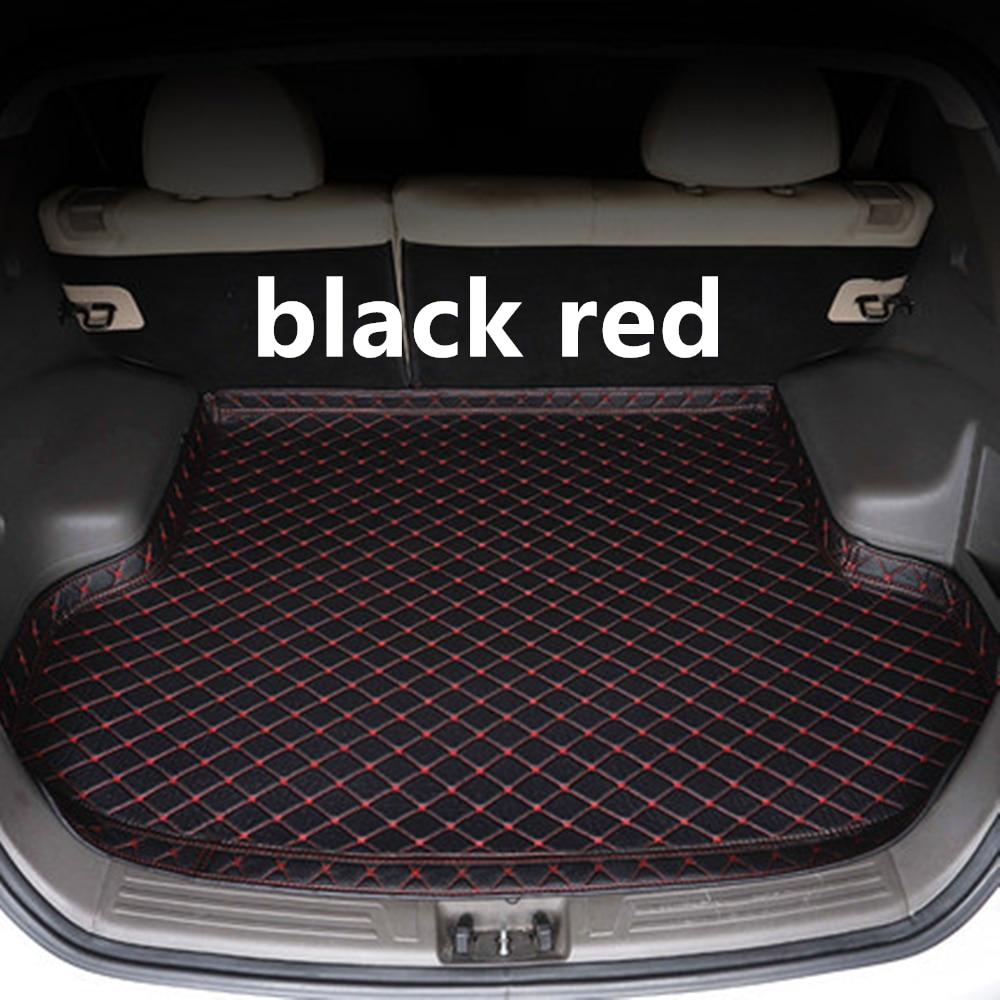 SJ haut côté imperméable tapis de coffre de voiture AUTO queue botte plateau doublure Cargo accessoires de protection arrière pour Hyundai Sonata 2015 2016 17-2019