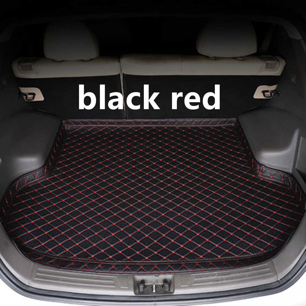 SJ High Side Waterproof Car Trunk Mat AUTO Tail Boot Tray Liner Cargo Rear Pad Parts Accessories For TOYOTA CAMRY 2018 2019