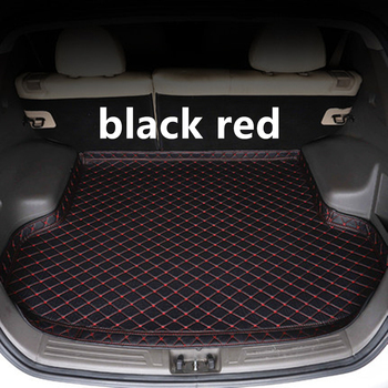SJ High Side Waterproof Car Trunk Mat AUTO Tail Boot Tray Liner Cargo Rear Pad Parts Accessories For NISSAN TIIDA 2016 2017 2018