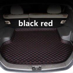 SJ High Side wodoodporna mata bagażnika samochodowego AUTO Tail Boot taca Liner Cargo tylne akcesoria Pad dla Ford Focus Sedan 2009 10 11-2019