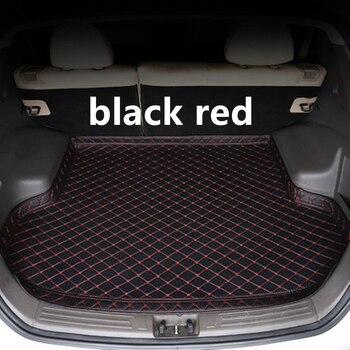 SJ po stronie wysokiego wodoodporna mata bagażnika samochodowego AUTO ogon Boot tacy Liner ładunek z tyłu Pad części akcesoria dla Mazda CX3 2017 2018 2019