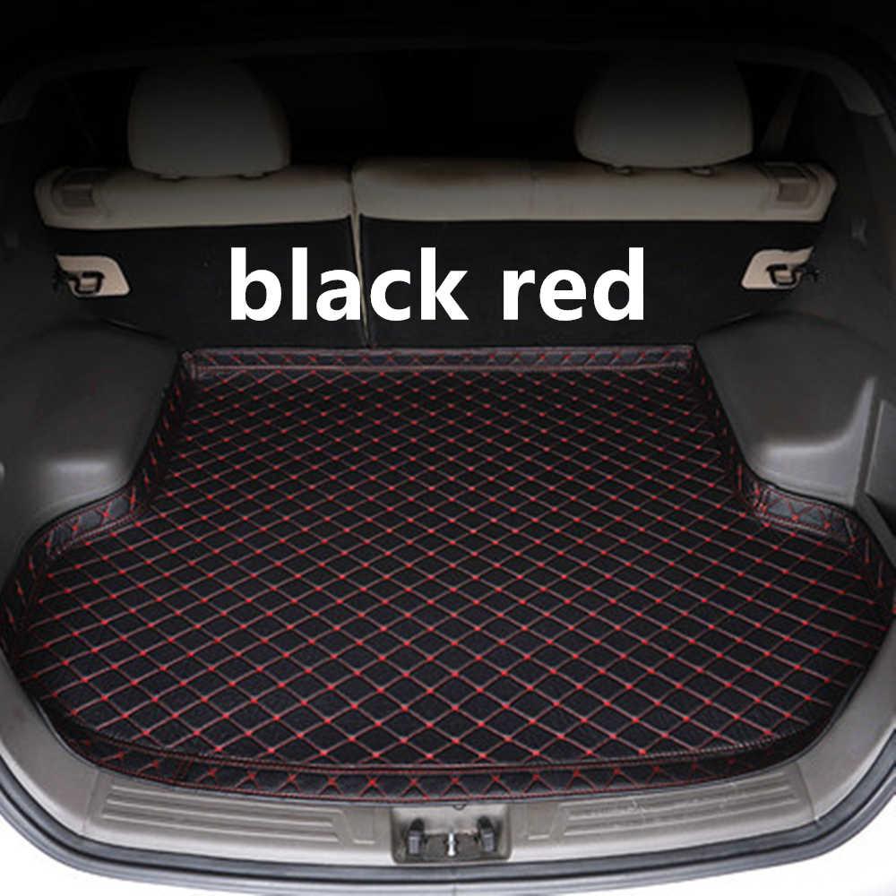 SJ عالية الجانب للماء سيارة فرش داخلي للسيارات والشاحنات السيارات الذيل التمهيد علبة اينر البضائع الخلفية سادة أجزاء الملحقات ل BMW X4 2014 2015 16 17 2018