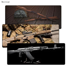 New Arrivals Gun Keyboard Gaming Large Lock Edge Thicken MousePads Size for 300*700*2mm and 400*900*3mm Game Mousepad