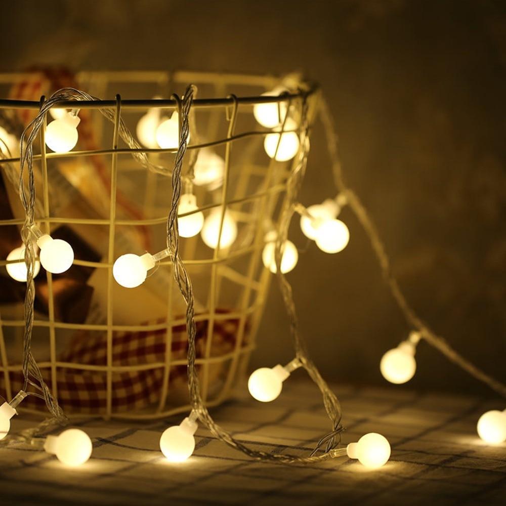 3M 6M 10M LED Ball String Light Ball Chain Fairy Garland Lights Bulb Light Waterproof For Outdoor Wedding Christmas Home Decor