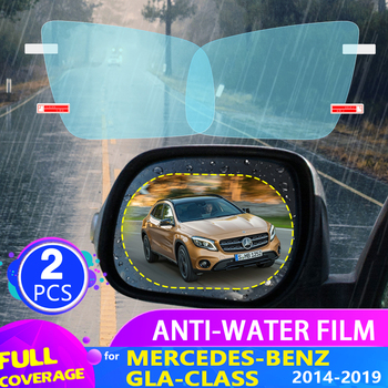 Car Rearview Mirror Film for Mercedes-Benz GLA-Class X156 2014-2019 2015 2016 2017 2018 Anti Fog Rainproof Sticker Accessories image