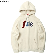 ICPANS Printed Fleece Pullover Hoodies Men/Women Hip Hop Sweatshirts  Harajuku Male Tops oversize Casual Hooded Streetwear