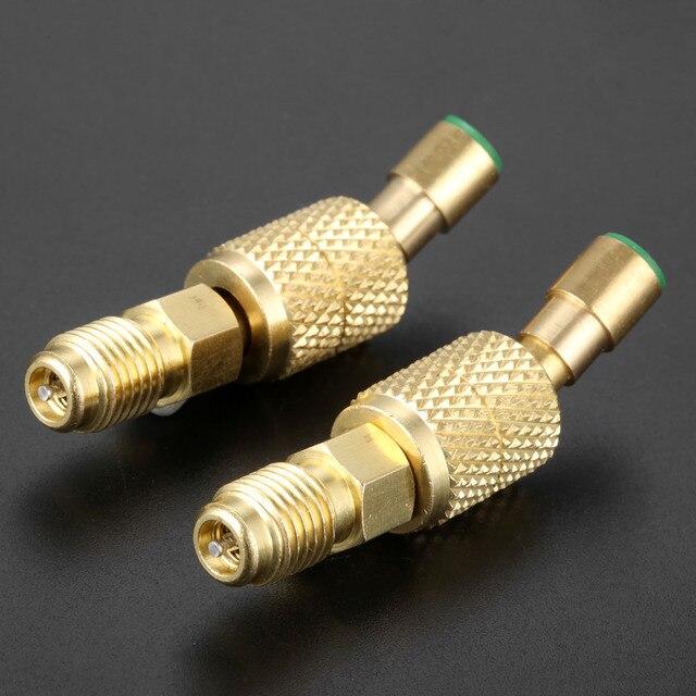 Adaptador giratorio R410a 1/4 macho a 5/16 hembra SAE adaptador para R410A Mini HVAC dividido para Mayitr, Conector de latón para aire acondicionado