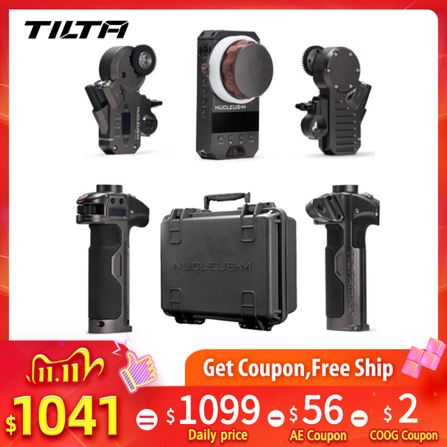 Tilta nucleo m sem fio siga o núcleo do sistema de controle da lente de foco m para o cardan de 3 eixos para o vermelho tilta de arri max para dji ronin s
