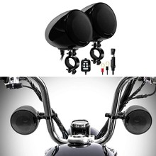 SPK400-D 2 Kanal 4,5 Zoll Motorrad Bluetooth Lautsprecher 600W Verstärker Stereo o System Unterstützung AUX MP3 (Schwarz)