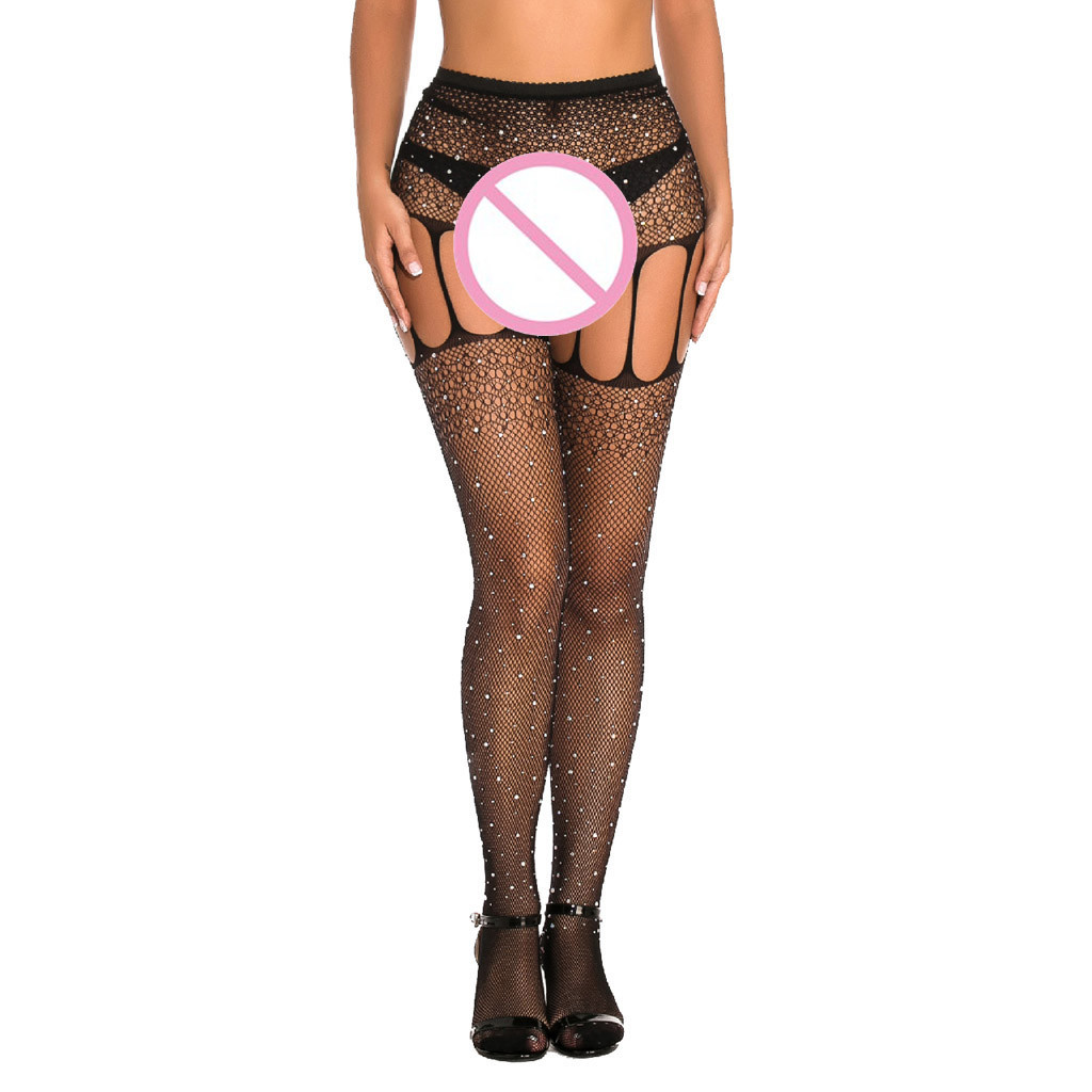MIARHB Erotic Lingerie Sexy Underwear Bodystocking Erotic Clothing Catsuit Body Sexy Open Crotch Lace Fishnet Bodysuit Tights