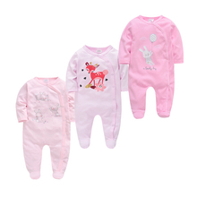 Pijamas-Set Newborn Sleepers Fille Bebe Baby-Girl Cotton 3pcs Soft Kids Breathable