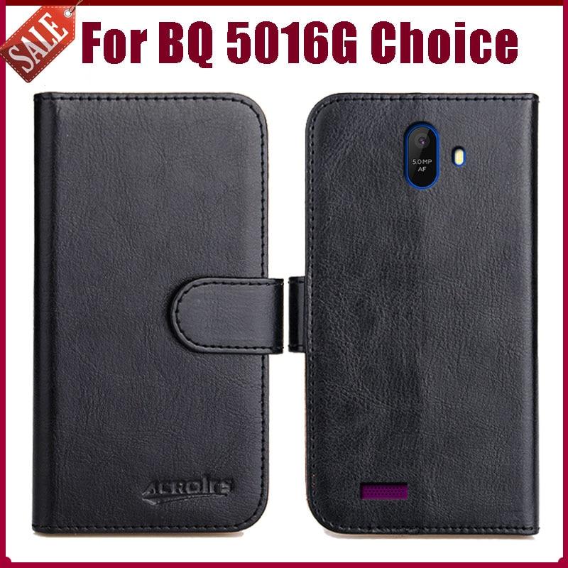 Лидер продаж! Чехол BQ 5016G Choice 5 дюймов, высокое качество, 6 цветов, мягкие кожаные для телефона, чехол-бумажник для BQ 5016G Choice, чехол с отделениям...