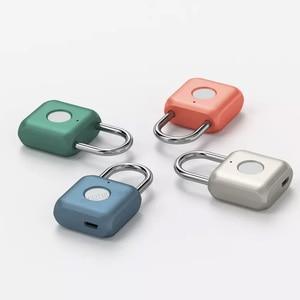 Image 1 - Youpin USB Rechargeable intelligent sans clé électronique serrure dempreintes digitales maison antivol sécurité cadenas serrure de fixation rétractable et mécanisme dattache de sécurité de porte