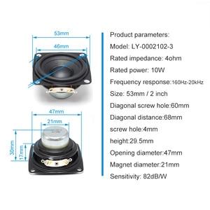 Image 3 - 2 Inch Audio Full Range Computer TV Speaker 4 Ohm 10W PC Sound Bluetooth DIY Soundbox 53mm HIFI Music Portable Loudspeaker 2pcs