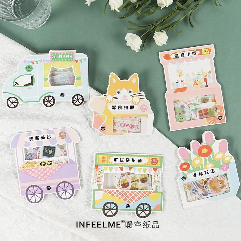 40pcs/lot Lovely Flowers Store Mini Paper Sticker Decoration Diy Album Diary Scrapbooking Label Sticker Kawaii Stationery