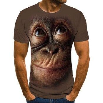 Camisetas impresas en 3D 2020 monos, orangutanes, babuinos, tigres, caballos blancos y otros diseños de animales están a la moda y populares