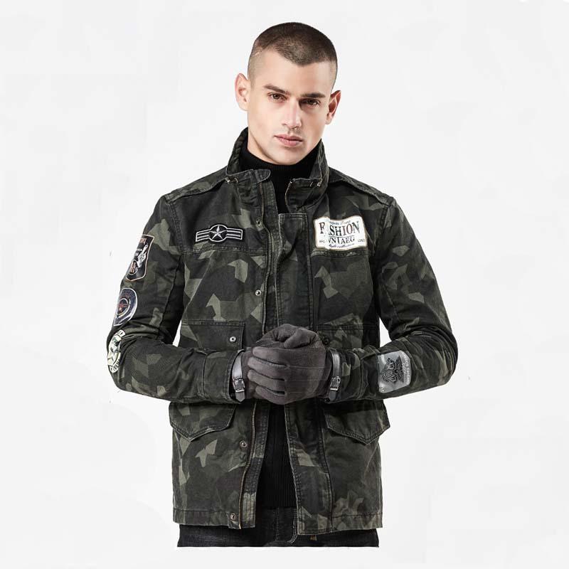 2019 printemps et automne nouvelle mode rue camouflage veste hommes auto-culture col montant chemise veste mâle W683