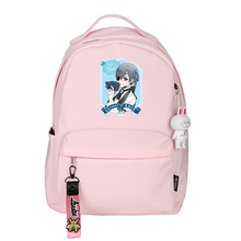 Hot Anime Black Butler Ciel Phantomhive Printing Backpack Cartoon Women