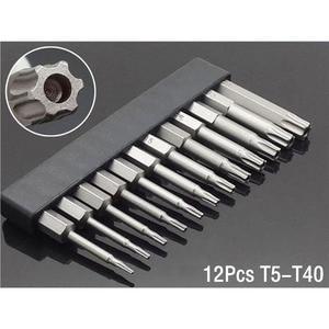 """50mm 8Pcs OR 12Pcs Set Security Tamper Proof Magnetic Screwdriver Drill Bit Screw Driver Bits Hex Torx Flat Head 1/4"""" Hand Tools(China)"""