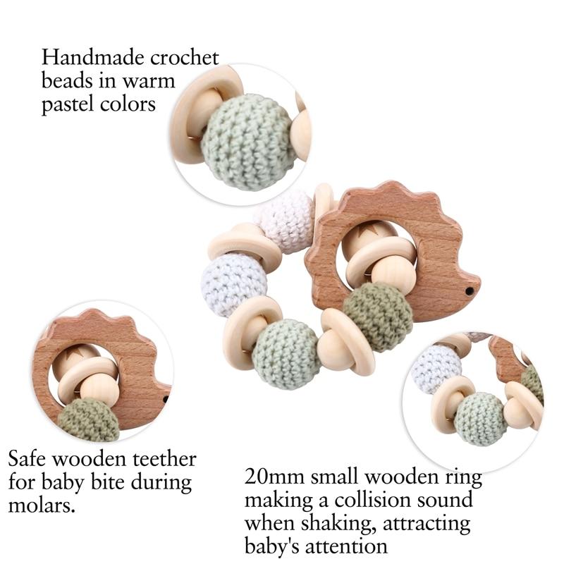 Napravimo 1kom drvene zube za ježeve kukičane kuglice drveni obrt - Igračke za bebe i malu djecu - Foto 4