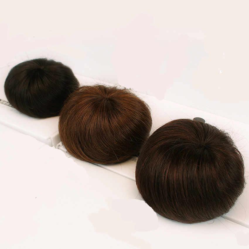 Ipli Chignons at kuyruğu saç ekleme Bun Updo postiş brezilyalı insan saçı topuz çörek Chignons saç parçası peruk olmayan remy