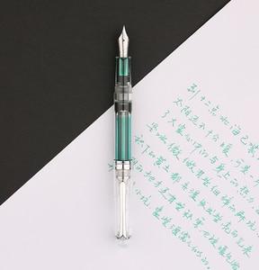 Image 4 - Moonman PENBBS 268 Vacuum Filling Fountain Pen Iridium EF/F/M Nib 0.38/0.5/0.7mm Fully Transparent Fashion Writing Gift Pen Set