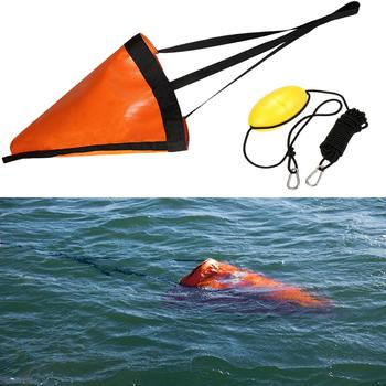 Mounchain Sea Anchor Drogue+PVC Kayak 24 inches Drift Tow Rope Throw Line to Fishing line Canoe kayaking/ rowing Boat