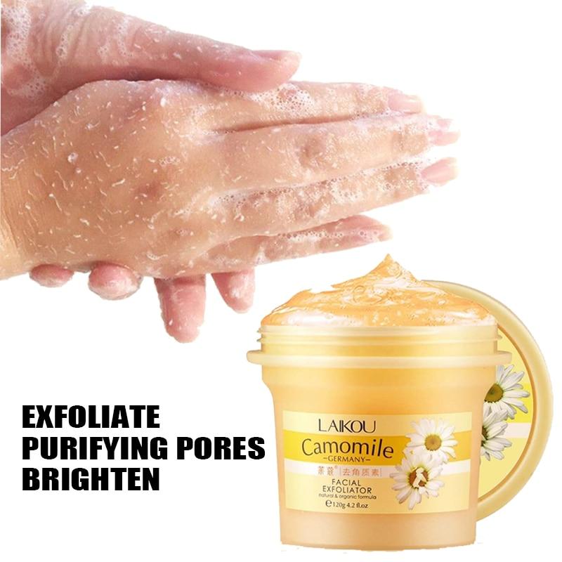 Laikou Camomile Natural Organic Facial Exfoliator Scrub Peeling