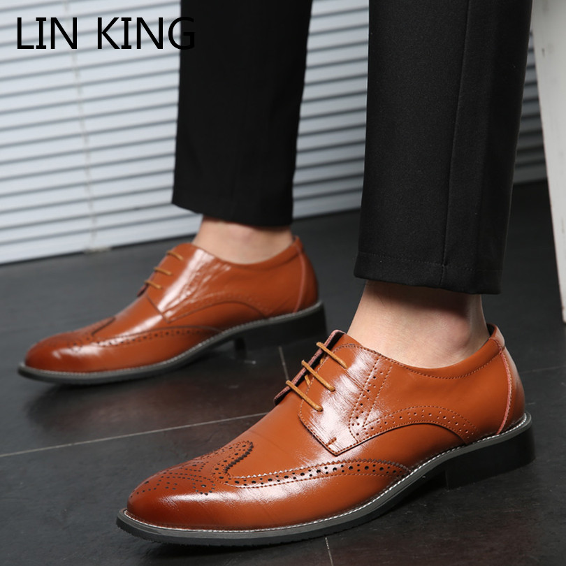 Men Oxfords Business Hand Stitching Splicing Leather Office Formal Casual Shoes