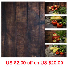 INS Style 56*88cm Double Sides Wood Marble Cement Wall Like Vintage Photography Background Backdrop Paper Board Prop For Food(China)