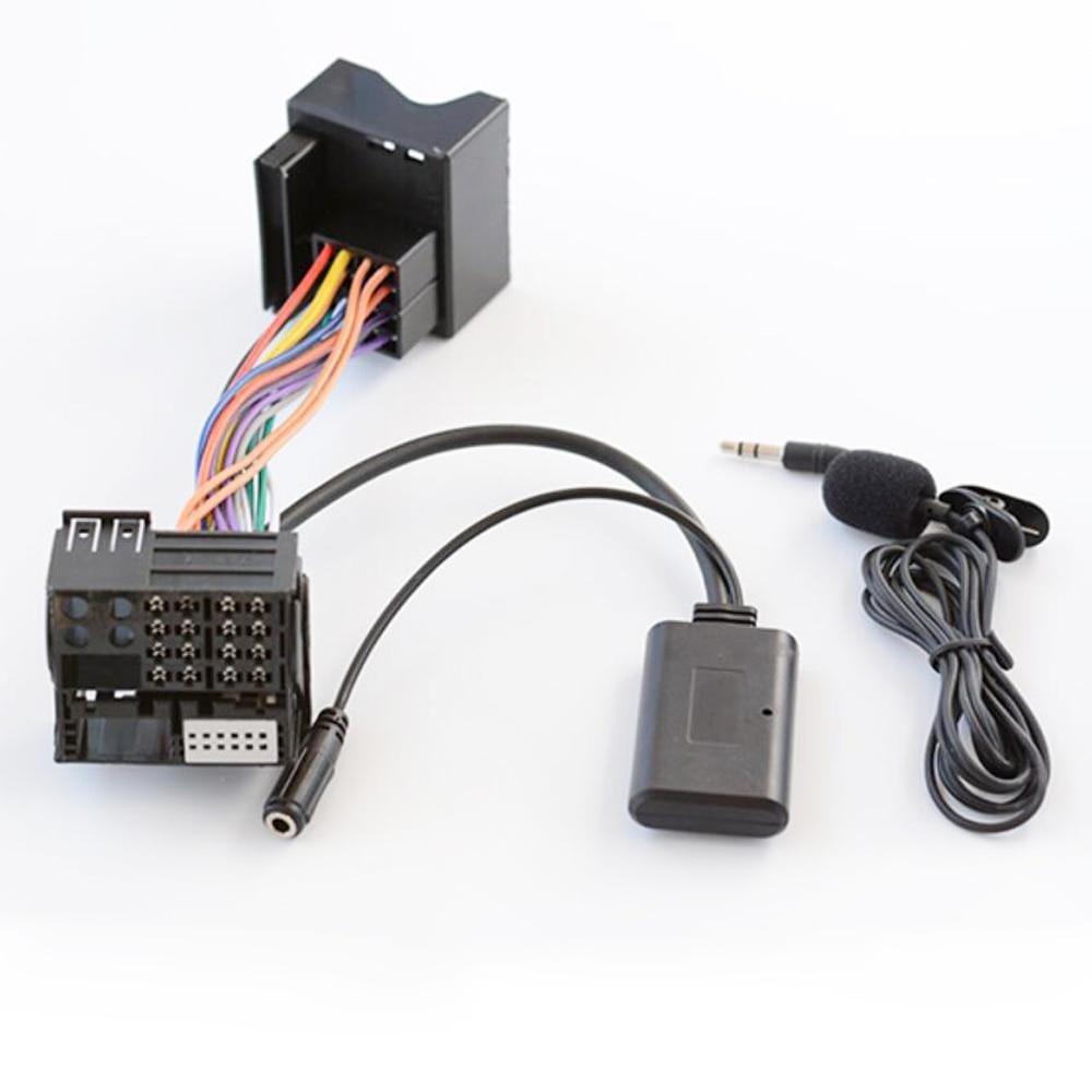 Biurlink Car Bluetooth 5.0 Harness Wire Kit Microphone Handsfree Adapter For Volkswagen Radio RNS315 RNS510 RCD310