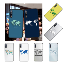 NBDRUICAI World Map DIY Printing Phone Case cover Shell for Huawei Honor 20 10 9 8 8x 8c 9x 7c 7a Lite view(China)