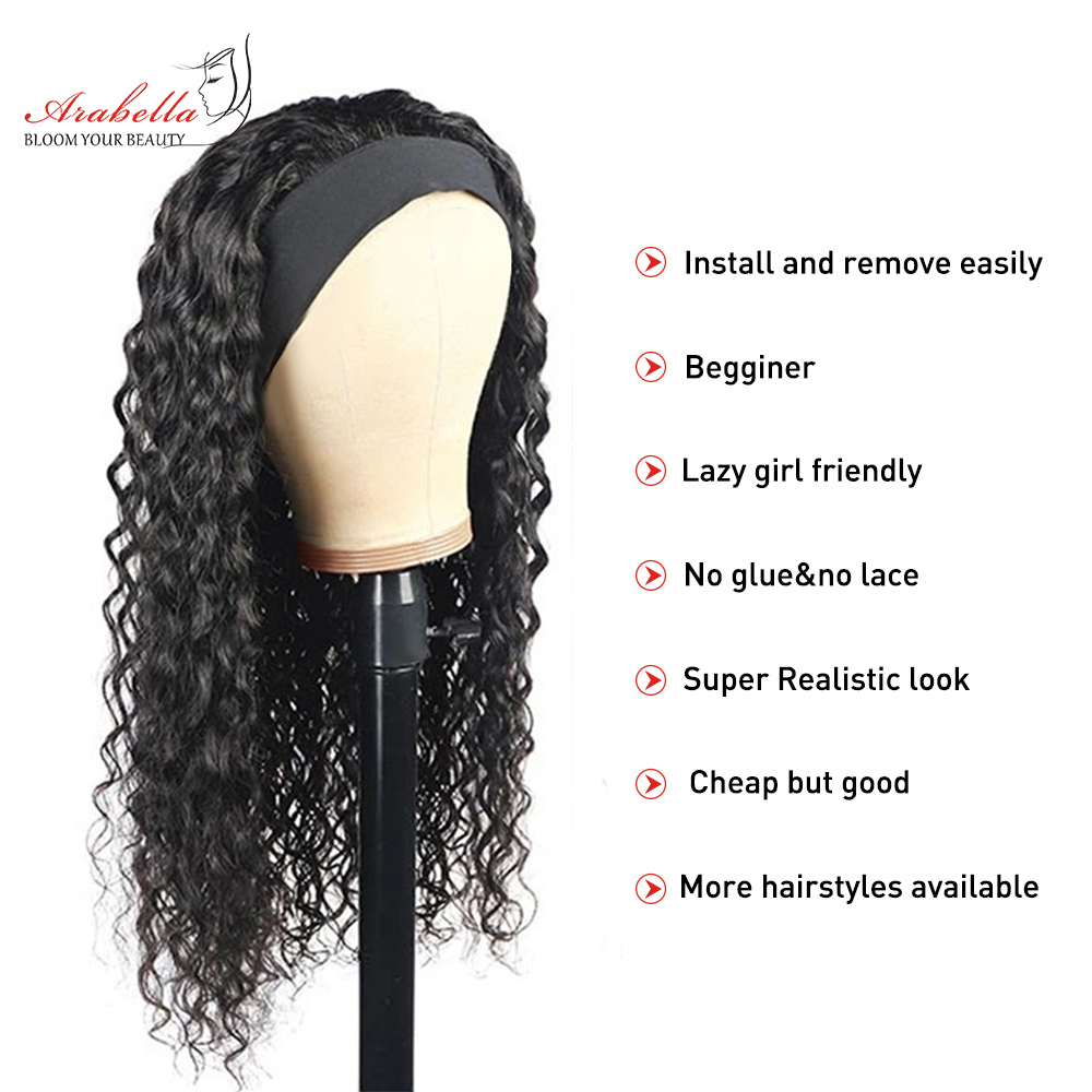 Headband Wig  Water Wave Wig  Hair Arabella Glueless Wig   Hair Wigs Headband Wig 2