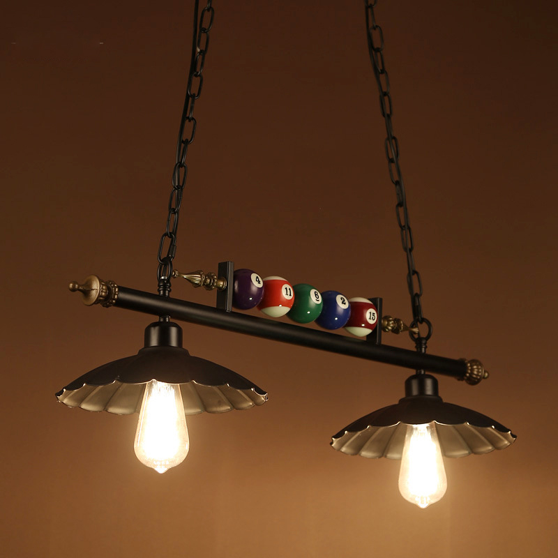 Retro Vintage Pool Table Lights For Dining Room Kitchen Restaurant Bar Pendant Light Industrial Loft Rustic Wrought Iron Lamp Pendant Lights Aliexpress