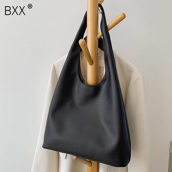 [BXX] High Capacity PU Leather Bags For Women 2021 Autumn Winter Trend Branded Ladies Shoulder Travel Handbags and Purses HO969 1
