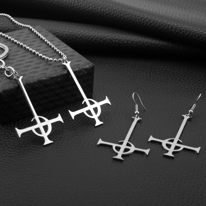 New Fashion Stainless Steel Ghost Rock Band letter Necklaces Choker Jewelry Necklace for Women Party Gift
