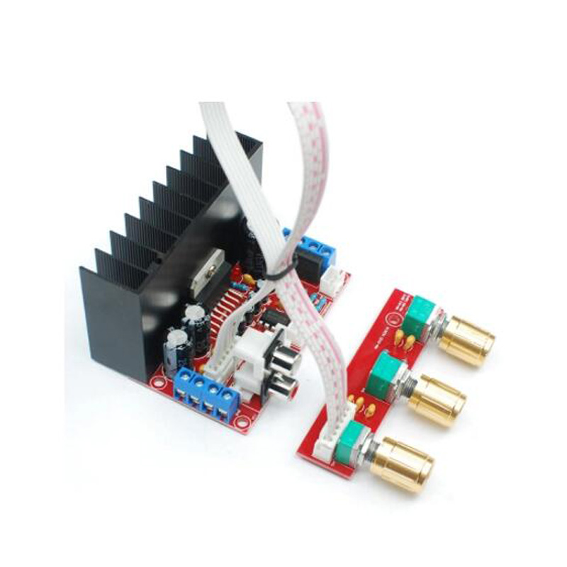 Diy Amplifier Board TDA7377 12V Single Power Computer Super Bass 3 Channel Sound and 2.1 Power Amplifier Board Sutie image