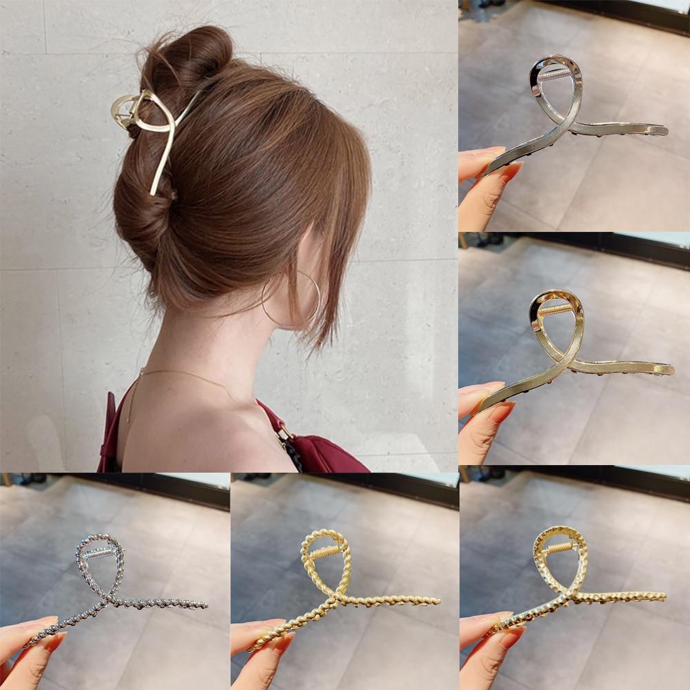 Metal Hair Headwear Ornaments Barrettes Claws Hair-Accessories Crab Girls Woman Ladies