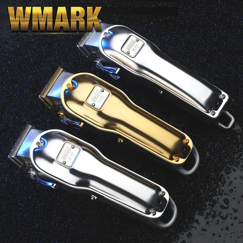 WMARK All-metal hair clipper NG-2019 NG-2020 Electric Hair trimmer free blade 2500mAh cordless hair cutter golden color