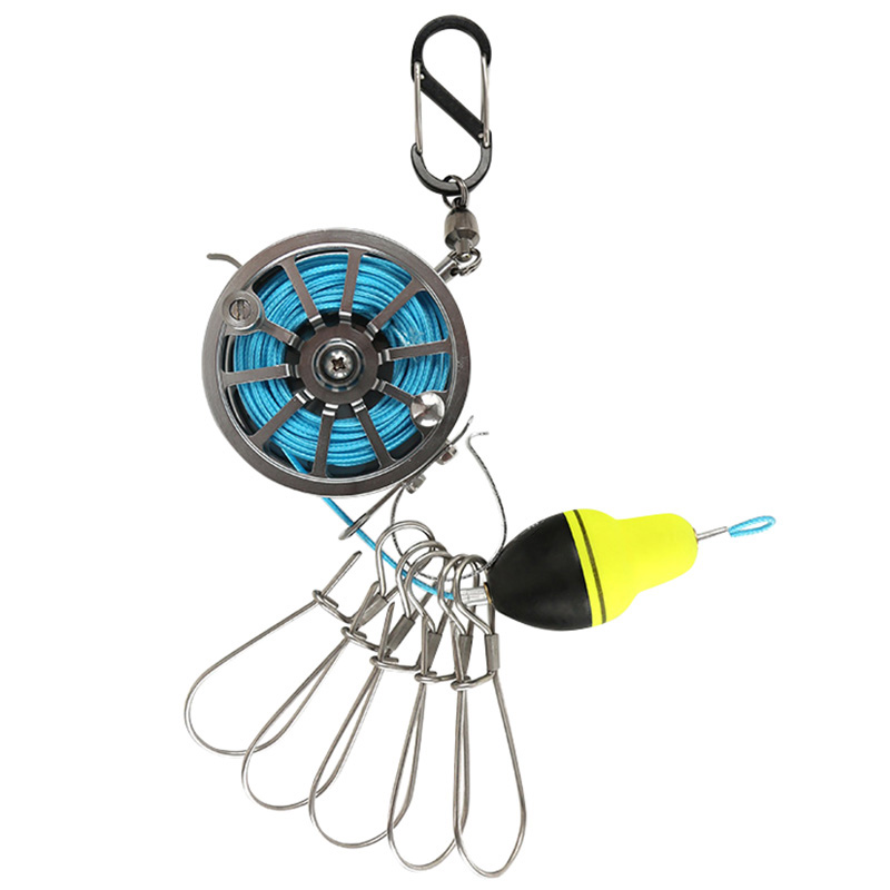 TOP! Fishing Lock Buckle With Reel Live Fish Lock Belt Fishing Tackle Stringer Fishing Floats Reel|Fishing Reels| |  - title=