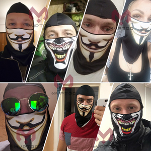 Image 5 - 3D Orcs Clown Balaclava Joker  Motorcycle Motocross Moto Skiing Snowboard Hat Helmet Liner Biker Full Face Mask Cap Men Women