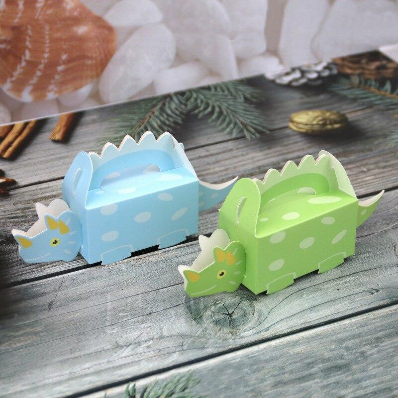 50 Pcs Candy Box Kuchen Box Behandeln Geschenk Box Candy Cookie Container Goodie Tasche für Kinder Dinosaurier Dino Party Baby dusche Dekoration