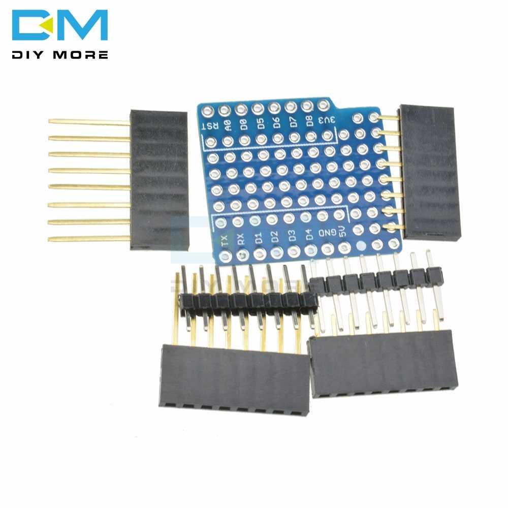 Bouclier d'extension platine de prototypage bouclier de broche pour WeMos D1 Mini Module capteur Mini Double face bricolage Kits ProtoBoard de batterie au Lithium