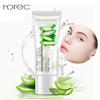 Natural Aloe Vera Smooth Gel Acne Treatment Face Cream for Hydrating Moist Repair After Sun Sleeping Mask Whitening By ROREC
