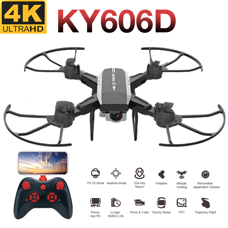 KY606D <font><b>Drone</b></font> <font><b>FPV</b></font> RC <font><b>Drone</b></font> 4k Camera 1080 HD Aerial Video Dron Quadcopter RC Helicopter Folding <font><b>Drone</b></font> Radio Controlled Plane toy image