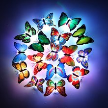 LED Night Light Butterfly LED Night Light Lamp with Colorful Changing for Home Room Party Desk Wall Decor недорого